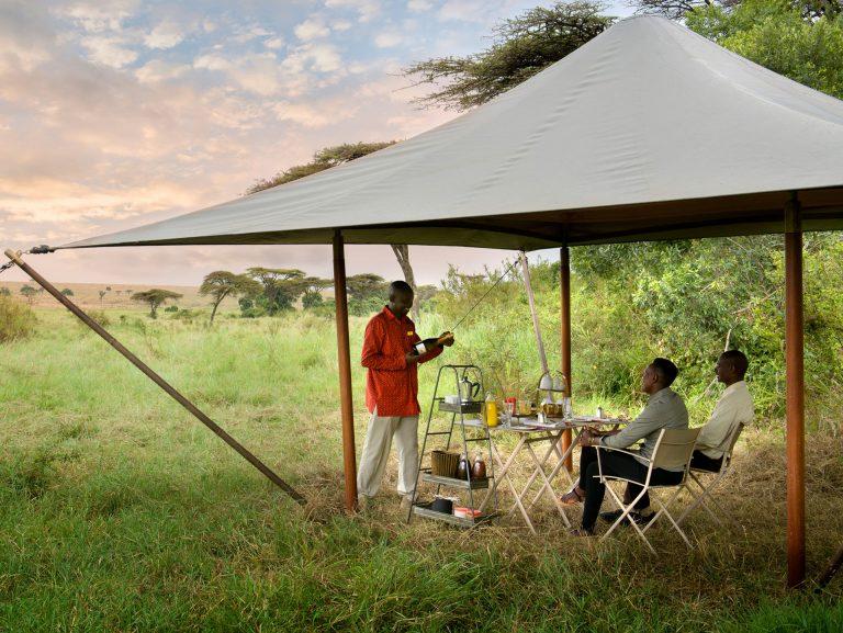 Guest delight at Angama Safari Camp