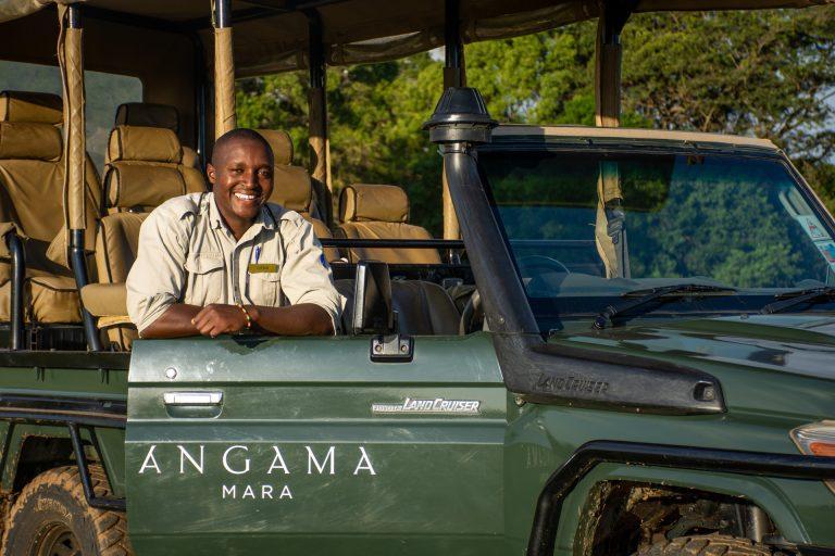 Guide Titus at Angama Mara