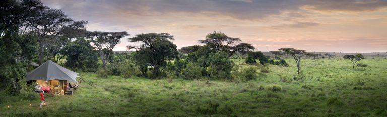 Angama Safari Camp with views of Maasai Mara