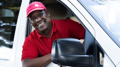 Above: Imagine this smile greeting you as you arrive in Nairobi