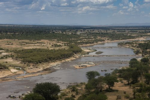 The river separates the Lamai Wedge from the main part of the Serengeti