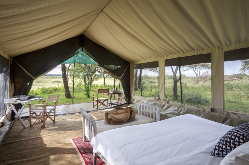 Views on all sides in the tents at Serian's Serengeti Lamai
